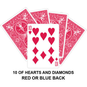 Ten Of Hearts And Diamonds Gaff Playing Card