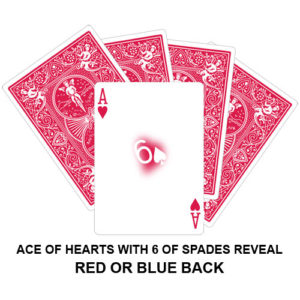 Ace Of Hearts With Six Spades Reveal Gaff Playing Card