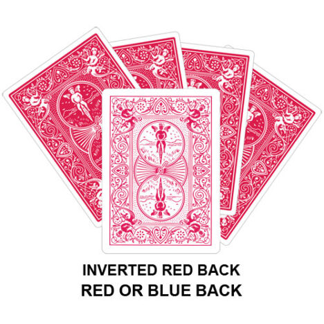 Inverted Red Back Gaff Playing Card