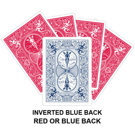 Inverted Blue Back Gaff Playing Card