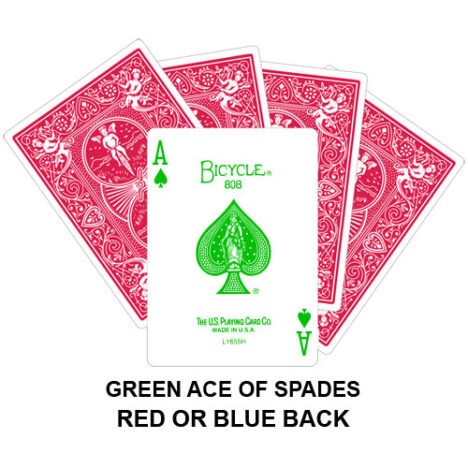 Green Ace Of Spades Gaff Playing Card
