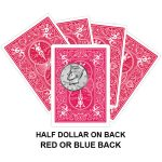 Half Dollar On Back Gaff Playing Card