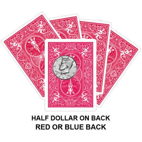 Half Dollar On Back Gaff Playing Card