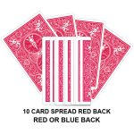 Ten Card Spread Red Back Gaff Playing Card