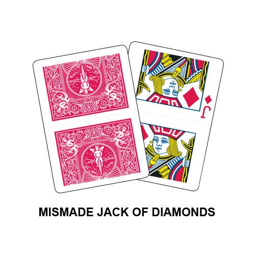 Mismade Jack Of Diamonds Gaff Playing Card
