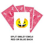 Split Smiley Emoji Gaff Playing Card