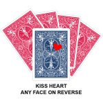 Kiss Heart Card Gaff Playing Card