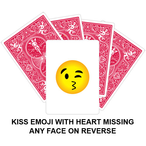 Kiss Emoji Heart Missing Gaff Playing Card