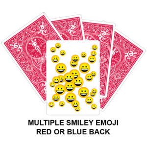 Multiple Smiley Emoji Gaff Playing Card
