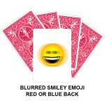 Blurred Smiley Emoji Gaff Playing Card