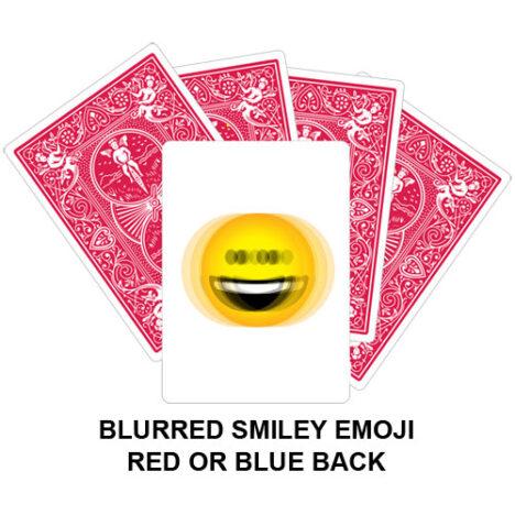 Blurred Smiley Emoji Gaff Playing Card