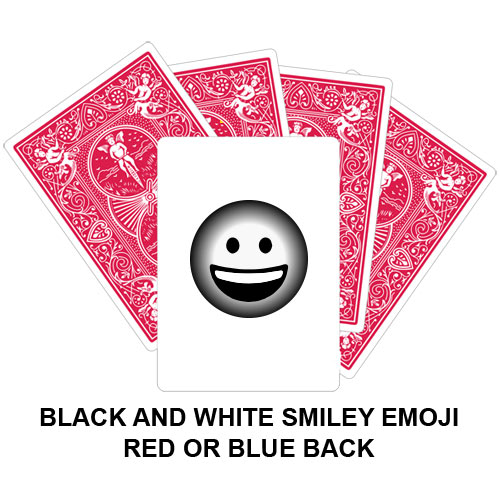Black And White Smiley Emoji Gaff Playing Card