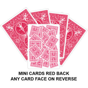 Mini Cards Red Back Gaff Playing Card