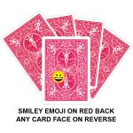 Smiley Emoji On Red Back Gaff Playing Card