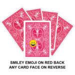 Smiley Emoji On Red Back Gaff Playing Card