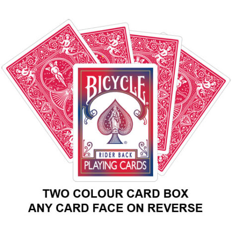 Two Colour Card Box Gaff Playing Card