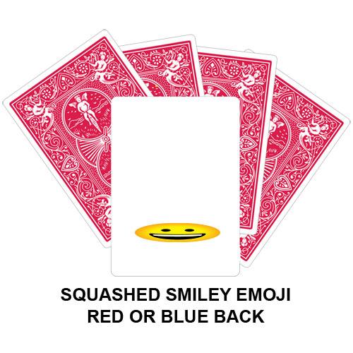 Squashed Smiley Emoji Gaff Playing Card