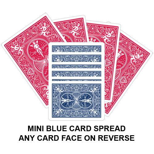 Mini Blue Card Spread Gaff Playing Card