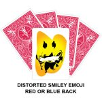 Distorted Smiley Emoji Gaff Playing Card