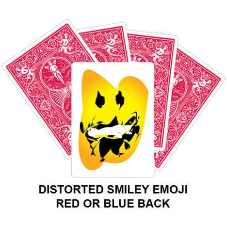 Distorted Smiley Emoji Gaff Playing Card