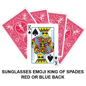 Sunglasses Emoji King Of Spades Gaff Playing Card