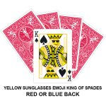 Yellow Sunglasses Emoji King Of Spades Gaff Playing Card