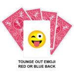 Tongue Out Emoji Gaff Playing Card