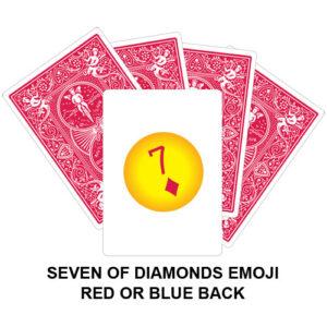 Seven Of Diamonds Emoji Gaff Playing Card