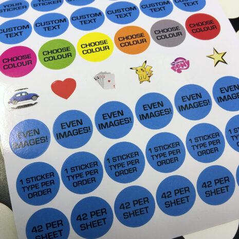 Personalised Stickers circular vinyl printed