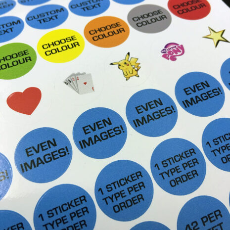 Personalised Stickers circular vinyl printed