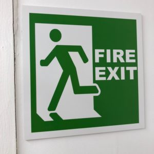 Fire Exit Sign Plastic