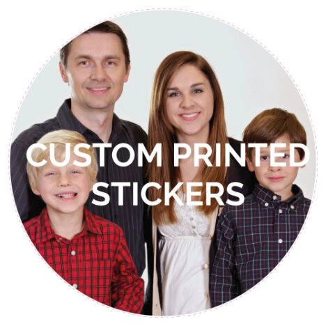 Custom printed vinyl stickers circle