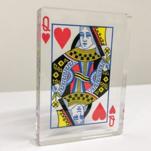Acrylic Photo Block Playing Card