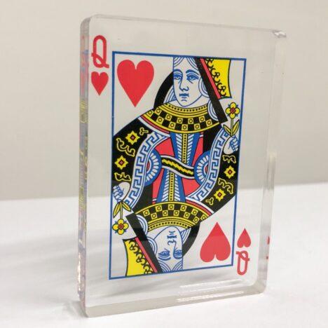 Acrylic Photo Block Playing Card