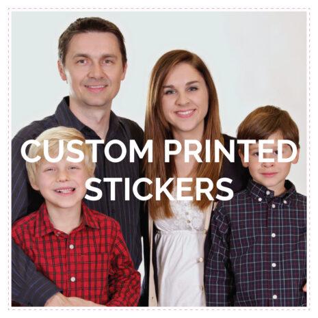 Custom Printed Vinyl Stickers Square Various Sizes
