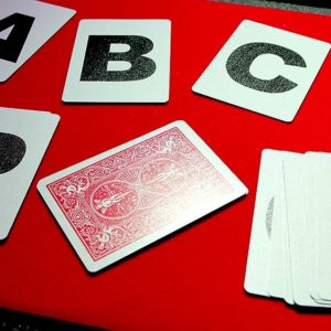 Alphabet Playing Cards No Index