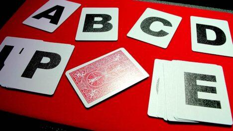 Alphabet Playing Cards No Index