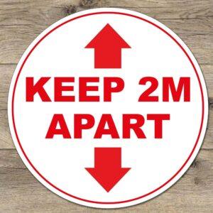 Keep 2 meters apart social distancing sticker