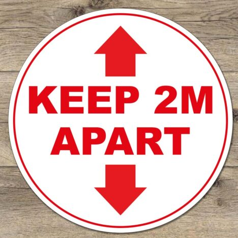 Keep 2 meters apart social distancing sticker