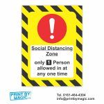 Social Distancing Vinyl Wall Sticker Laminated