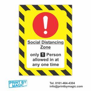 Social Distancing Vinyl Wall Sticker Laminated