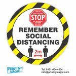 remember social distancing stickers