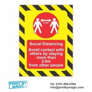 social distancing vinyl sticker
