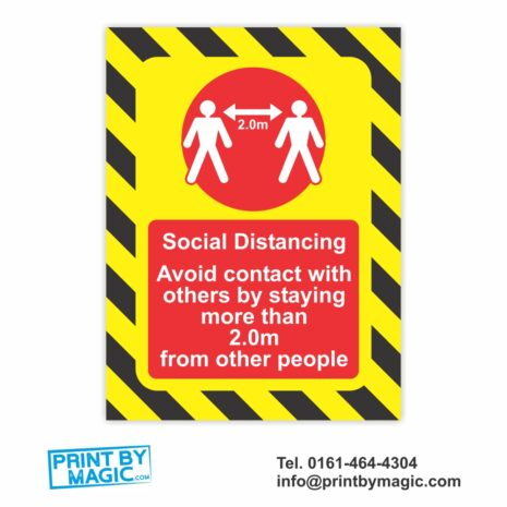 social distancing vinyl sticker