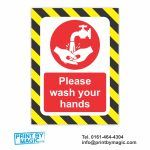 Please Wash Your Hands Vinyl Laminated Poster