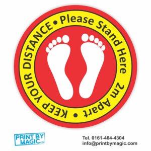 Keep Your Distance Floor Stickers