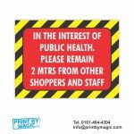 Public Health Distancing Vinyl Sticker