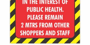 Public Health Distancing Vinyl Sticker