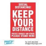 KEEP YOUR DISTANCE VINYL STICKER