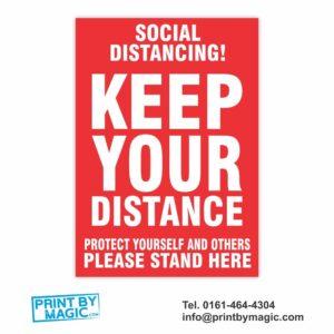 KEEP YOUR DISTANCE VINYL STICKER